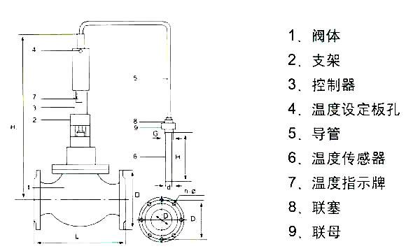 YZW型自力式温控阀结构